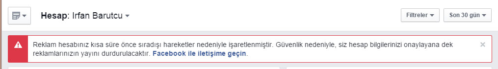 facebook reklam hesabım