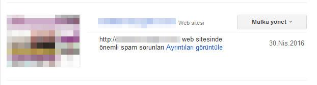manuel spam uyarısı