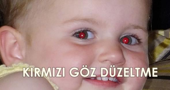 Photoshop ve Telefonda Basit Kırmızı Göz Düzeltme!