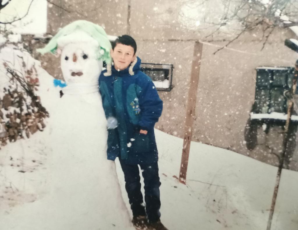 çocukluğumdan bir kış resmi
