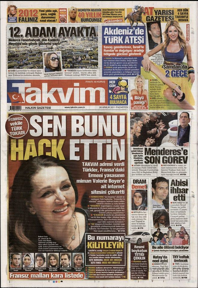 Takvim Gazetesi Grayhatz Manşeti